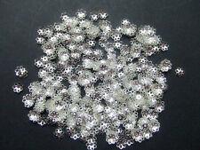 200pz coppette 6mm colore argento chiaro  per 8-14mm perline