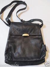 Handtasche Lapagayo Umhängetasche Leder schwarz vintage/W43