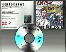 BEN FOLDS FIVE Do it Anyway w/ RARE EDIT PROMO Radio DJ CD Single 2012 USA MINT