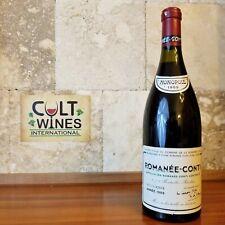 WS 97 pts! 1989 DRC Romanee Conti Grand Cru Burgundy wine.