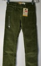 Levi's 511 Boy's Youth Slim Corduroy Jeans Pants Size 10 25x25 Burnt Olive NWT