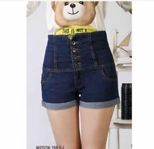 LADIES HIGH WAIST SHORT #398  - (DARK BLUE) LARGE
