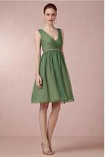 Anthropologie BHLDN Hitherto Wedding Bridesmaid Dress Green V Neck $200 Sz 14
