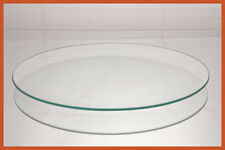 """10"""" Round Clear  """"BENT"""" Glass Plate 1/8"""