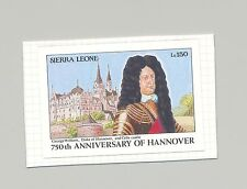 Sierra Leone 1991 Anniversary of Hannover 1v Imperf Essay on Card