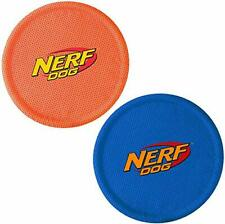 Nerf Dog Nylon Flyer Dog Toy Frisbee Lightweight Durable and Water Resistant ...