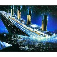 DIY Full Drill Titanic 5D Diamond Painting Embroidery Cross Stitch Kits Decor