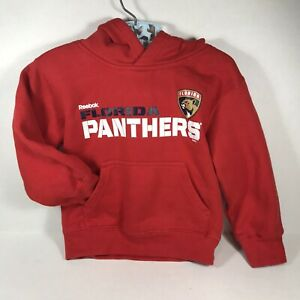 Florida Panthers Hockey Hoodie 4T Red NHL Reebok Face Off Collection Toddler Kid