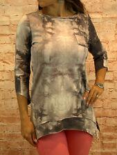 Bluse Tunika Oberteil Damen Pulli 3/4 Arm Shirt Gr. 38,48