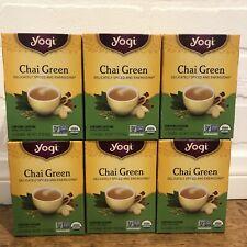 6 New Boxes Yogi Chai Green Tea 96 Bags Total