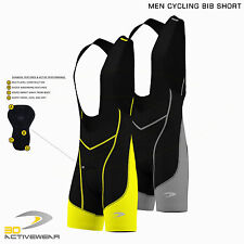 Men Cycling Bib Shorts Bike Bicycle Pants Padded Tights Shorts Lycra