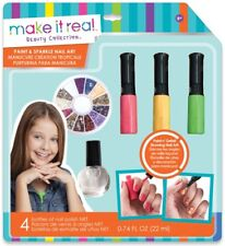 Make It Real Paint & Sparkle Nail Art Graphique Jungle Nail Art Set ** NEUF **