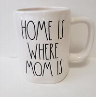 Rae Dunn HOME IS WHERE MOM IS Mug Farmhouse LL VHTF Coffee By Magenta