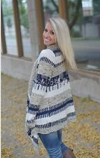 UK Womens Knitted Open Long Sleeve Jumper Shawl Sweater Cardigan Coat Loose Top