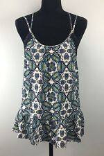 Melrose and Market Size S Printed Trim Lace Strappy Tank Top (H55-56)