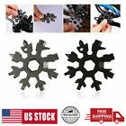 Portable Screwdriver Keychain 18in1 Multi-Tool Snowflake Shape Keychain Gift New