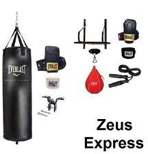 Everlast 70 Lb Heavy Punching Bag Speed Bag Gloves Hand Wraps Bracket Kit fitnes
