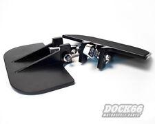 Mini Trittbretter, verstellbar, schwarz für Harley-Davidson Fahrer und Sozius