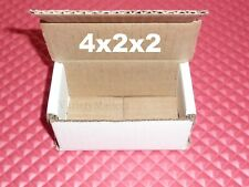 12 Small White Corrugated Boxes 4x2x2 Little Shipping Gift Storage Boxes