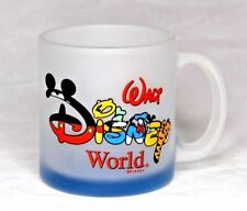 Frosted Walt Disney World Mug Spelled with Characters of Disney with Blue Bottom