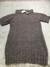 Grey, Italian Yarn, Knit, Dress, Size M, BNWT