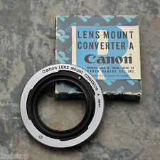 Canon Lens Mount Converter A L39 Rangefinder lens to Canon FL/FD Adapter (#631)