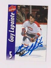 Molson Export Beer Guy LaPointe Montreal Canadiens Autographed Card