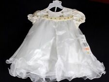 Rare Editions two piece set baby ivory party dress polyester size 12 months