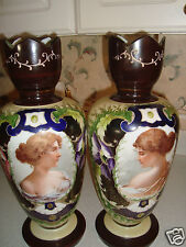 """Bristol vases {2} from  Europe very """"RARE AND UNIQUE"""" pair Awesome"""