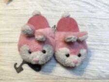Toddler Girls' Pink Bunny Slip on Soled Slipper 13/1 - Free Ship