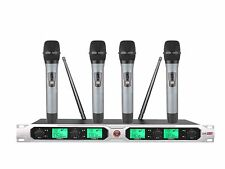 UHF Wireless Microphone microfone with 4 microphones for karaoke performance