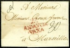 SPAIN : 1788 Folded Letter from Malaga to France. Laid paper, business letter.