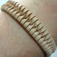 Beige Leather Bracelet Wristband Bangle Mens Womens Boys Girls Surfer Jewellery