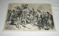 1879 magazine engraving ~ CELEBRATION OF THE EPIPHANY IN MADRID Spain