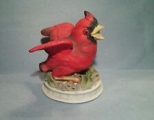 """Lefton China Hand Painted Red """"CARDINAL"""" Figurine #KW1637"""
