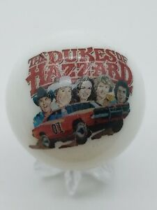 The Dukes Of Hazzard Dukes General Lee Logo White Shooter Marble Collectible