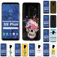 Thin Gel Design Phone Case Cover for Samsung Galaxy S9 Plus,Skull Stylish Print