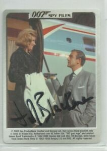 HONOR BLACKMAN 007 JAMES BOND PUSSY GALORE GOLDFINGER 4 SIGNED TRADING CARD COA