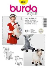 BURDA SEWING PATTERN Cuddly toys Donkey & Sheep 7038