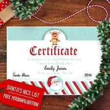 Personalised Christmas Letter From Santa Certificate Nice List Includes Envelope