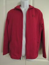 UNDER ARMOUR ~ Mens Red Zipper Track Jacket ~ Size Small Loose