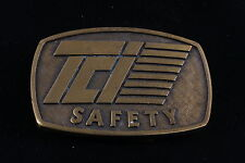 TCI SAFETY BRASS BELT BUCKLE  4104