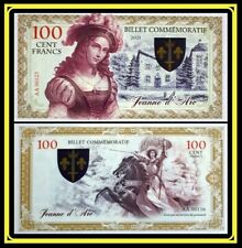 Billet Commémoratif 100 Cent Francs JEANNE D'ARC Polymère 2021 Numéro Suite 123