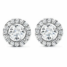 Round Cut 1.60 Ct Solitaire Diamond Earrings Stud 14K White Gold Earring Stud