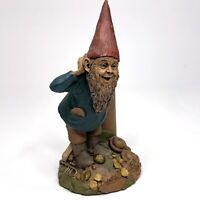Vintage 1990 Carin Studio TOM CLARK Signed 'HARK' #43 Gnome Figurine w/ Trumpet