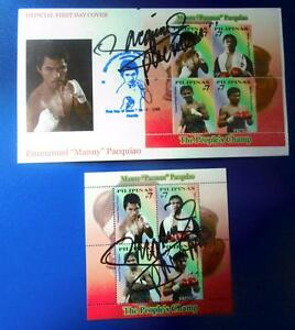 2008 MANNY PACMAN PACQUIAO PEOPLE'S CHAMP FDC SS ORIGINAL SIGNED 1st series