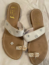 Miss Trish For Target Womens Slide Sandals White Jeweled 8.5