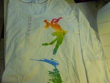 White & Rainbow Figure Skater 3/4 Sleeve T-Shirt Retail $25.99 Nice Gift XL