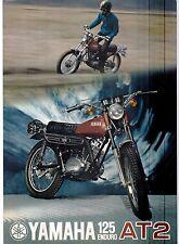 1972 Yamaha 125 Single Enduro AT2 factory original sales brochure(Reprint) $9.00