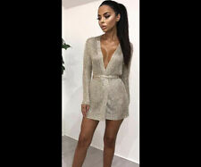 Women Sparkly Evening MIDY Dress Metallic Knit Wedding Party Bodycon Wrap Kimono Cardy Gold-24hr UK Fast Post Top Quality Club 18